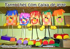 Fantoches e marionetes com caixa de leite - Pra Gente Miúda