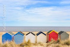 Contemporary fine art prints for residential and commercial interior design Beach Huts For Sale, Beach Huts Art, Seaside Beach, Beach Images, Beach Pictures, Landscape Photos, Landscape Photography, British Seaside, Types Of Photography