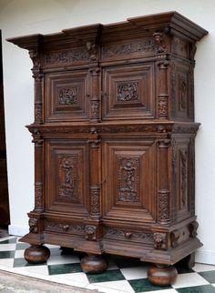 Northern German Baroque Hallway Cabinet