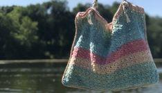 The Miriam Tote – Sunset Knots: Imagine. Cotton Crochet Patterns, Crochet Stitches, Single Crochet Stitch, Double Crochet, Cotton Cake, Crab Stitch, Yarn Bee, Crochet Market Bag, Yarn Needle