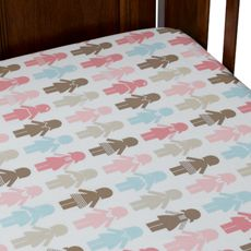 Dwell Studio™ Paper Dolls Petal Fitted Crib Sheet (BB)