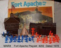 MARX FORT APACHE PLAYSET