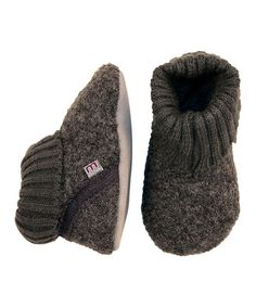 Melton Baby Gray Wool Booties   zulily