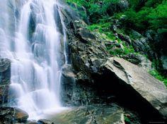 Hickory Nut Falls, Chimney Rock Park, Asheville, North Carolina Photographic Print