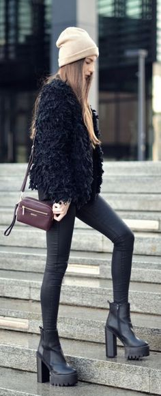 #winter #fashion / noir