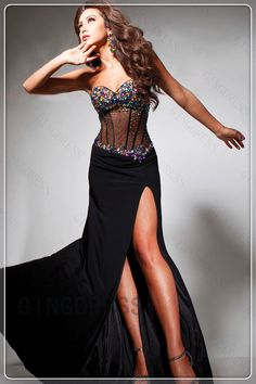 Chiffon Absorbing Trumpet Strapless Prom Dress