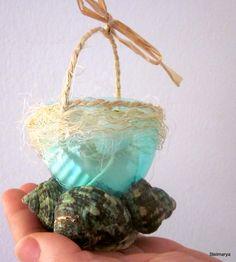Confezione cestino regalo gesso cuore profumatobrezza di Stelmarya, €10.00