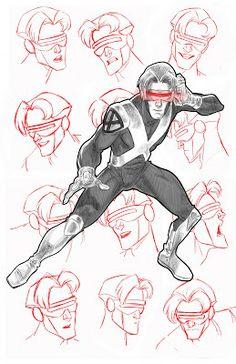 X-Men: Evolution - Cyclops X Men Comics, Marvel Comics, Marvel Films, Marvel Heroes, Marvel Art, Jean Grey, X Men Evolution, Comic Book Characters, Comic Books Art