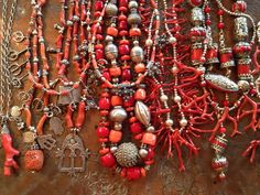 Overview of jewelry featuring antique Moroccan Berber and silver made and for sale by Victoria Z Rivers