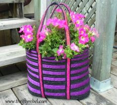 s 13 planter ideas that blow all other planters out of the water, container gardening, gardening, repurposing upcycling, Fill a purse with soil and flowers