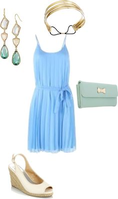 Sundress. affordable summer wedding, created by amytastic on Polyvore