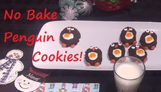 No Bake Penguin Cookies