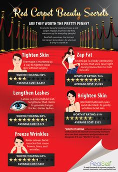 the treatments of the stars really worth it?Are the treatments of the stars really worth it? Plastic Surgery Facts, Celebrity Plastic Surgery, Cosmetic Treatments, Health Promotion, Body Contouring, Skin Tightening, Aging Gracefully, Beauty Secrets, The Secret