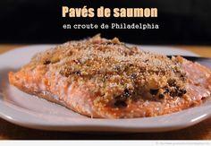 Pavés de saumon en croute de Philadelphia