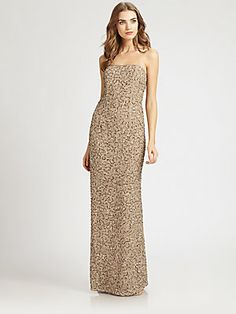 ABS Sequined Gown