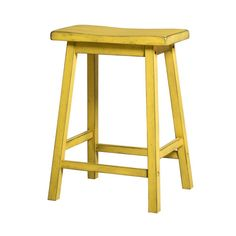 Amazon.com: ACME Furniture Gaucho Counter Height Stool (Set of 2), Antique Yellow: Home & Kitchen