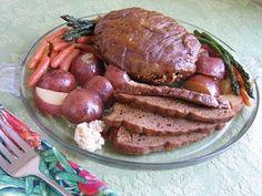 Slow-Cooker Seitan Pot Roast #vegan #vegetarian