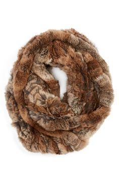 Linda Richards Genuine Rex Rabbit Fur Infinity Scarf available at #Nordstrom