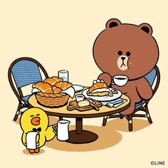 My favourite pastry at all time 🥐 Gangnam store only Time for me to visit Gangnam now . Cute Love Gif, Cute Love Pictures, Cony Brown, Brown Bear, Mystic Messenger V, Bear Gif, Baby Looney Tunes, Character Poses, Anime Animals