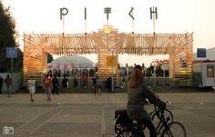 Pitch Festival 2015 Amsterdam - (c) NuFoto. Entrance Design, Gate Design, Nightclub Design, Big Building, Virtual Field Trips, Dream House Exterior, Event Marketing, Event Design, Outdoor Gardens