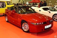 #Alfa_Romeo #SZ au salon Auto Moto Retro de Rouen. Reportage complet : http://newsdanciennes.com/2015/09/28/grand-format-auto-moto-retro-de-rouen/ #Cars #Vintage #Classic_Cars