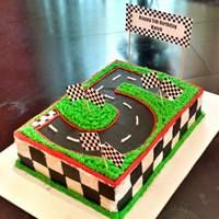 Number 5 Race Track Cake
