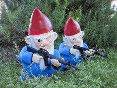 hilarious.  combat garden gnome.