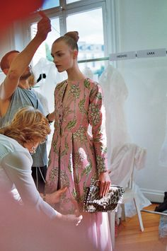 backstage at valentino haute couture, fall 2012hedvig palm by schohaja