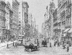 Fifth Ave - New York 1915 New York, Snow, Artwork, Outdoor, Outdoors, New York City, Work Of Art, Outdoor Games, Nyc