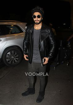Ranveer Singh styles up to take a flight from Mumbai airport. via Voompla.com