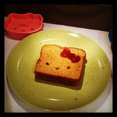 hello kitty toast! by me~