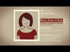 I would hire this lady in a second after seeing this video. What a clever way of promoting yourself! CV animé présentation Marine Queraux