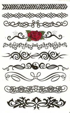 Scalabe Vector Graphics Divider Lines Fancy Swirls by