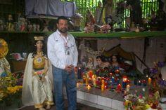 Altar of Maria lionza and the tres potencias part of Espiritismo and curanderismo in Venezuela