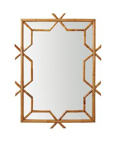 Decorating with Mirrors. Beautiful bamboo mirror.