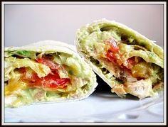 Tuna Melt Wraps with Avocado