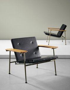 Yrjö Kukkapuro 'Triennale', folding chairs, Moderno Workshop, Finland, 1960
