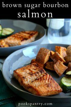 Bourbon Salmon with brown sugar, garlic and a squeeze of lime is restaurant quality food at home in 30 minutes.  This tasty marinade is perfect for those looking for a non-lemon preparation for salmon.  #seafood #salmon #seafooddinner #healthydinner Quick Pasta Recipes, Easy Casserole Recipes, Easy Chicken Recipes, Salmon Recipes, Fish Recipes, Seafood Recipes, Great Recipes, Zone Recipes, Favorite Recipes