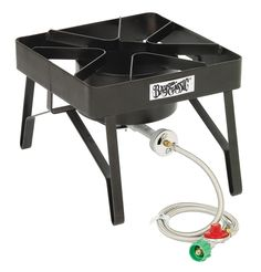 The Bayou Classic Brew Burner is a high quality, high BTU brew burner made specifically for our beer brewers. The Bayou Classic Brew Burner has a welded frame with a beer brewing surface that can ho Outdoor Cooking Stove, Outdoor Stove, Best Charcoal Grill, Industrial, Camping Stove, Beer Brewing, Wheelbarrow, Grilling