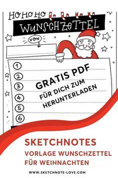 Schon beim Wunschzettel schreiben in eine weihnachtliche Stimmung kommst du, wenn du statt eines weißen Blattes einen weihnachtlich gestalteten Wunschzettel zeichnest. Damit dir das einfach und gut gelingt, stelle ich dir hier kostenlos eine PDF-Vorlage zum Download zur Verfügung.  Wunschzettel Weihnachten Vorlage |Wunschzettel Kinder Vorlage |  Weihnachtsliste |   Wünsche Weihnachten Kinder |  Weihnachten Dekoration |  Weihnachten basteln |   Weihnachten Vorlagen #Nadine Roßa…