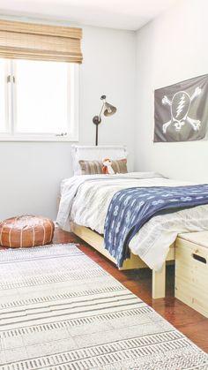 boho modern boy room transformation on a budget