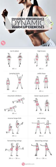 Warm up your entire body at home with these dynamic warm up exercises. Raise your heart rate and prepare your body and joints for the workout to follo. Best At Home Workout, Workout Warm Up, At Home Workouts, Balance Board Exercises, Back Exercises, Posture Exercises, Drawing Exercises, Workout Exercises, Amrap Workout