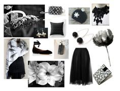 """""""Black As Night"""" by marshaholmes ❤ liked on Polyvore featuring art and etsyevolution"""