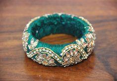 Thick Green Zardozi Bangle – Desically Ethnic  #Desi #ethnic #Zardozi #fashion #bangle #jewellery #jewelsofindia #india #indian #desicallyethnic #accessories #shopnow #onlineshopping