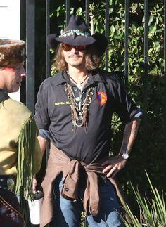 Johnny Depp - Johnny Depp Attends His Childs School Event