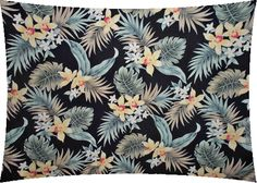 10aunaki. Tropical Hawaiian orchid & plumeria flowers, cotton apparel fabric. Add Discount code: (Pin10) in comment box at check out for 10% off sub total at BarkclothHawaii.com