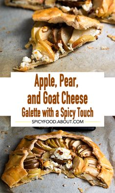 Apple, Pear, and Goat Cheese Galette with a Spicy Touch | #vegetarian #meatfree #pie #rustictart #apples