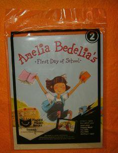 McDonalds Happy Meal Toy #2 Amelia Bedelia's First Day of School Book, NIP 2017 #McDonalds