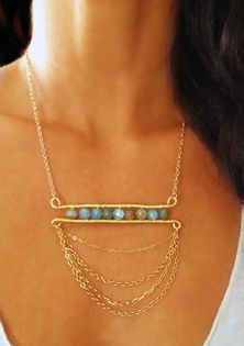 Chalcedony with Gold Chain