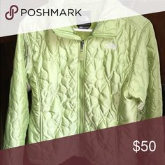 The north face lily winter jacket Size large. Excellent condition. Light weight and very warm. Light green beautiful color with white stitching North Face Jackets & Coats